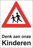 Kliko sticker 'Denk aan onze kinderen'_
