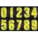 Containersticker huisnummersticker fluor geel_