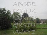 Plakletters / letter stickers gezandstraald Segoe_