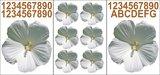Kliko stickers flowers wit_