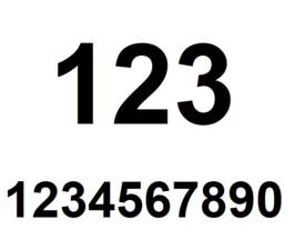 Cijfer stickers Arial