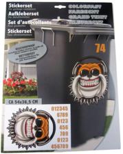 Container stickers bulldog met koptelefoon