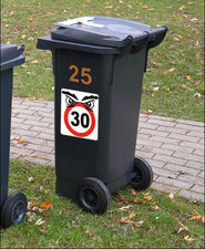 Kliko stickers snelheid 30 + denk aan onze kinderen