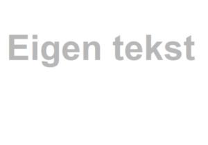 Tekststicker gezandstraald (max. 15 tekens)
