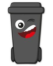 Containersticker gezicht: Rik de klikosticker