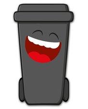 Containersticker gezicht: Martin de Klikosticker