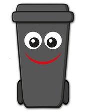 Containersticker gezicht: Fred de klikosticker