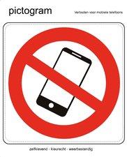 Pictogram sticker Verboden mobiele telefoon (10x10cm)