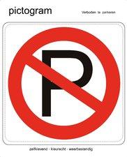Pictogram sticker Verboden te parkeren (10x10cm)