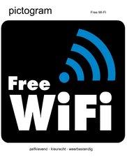 Pictogram sticker Free WiFi (10x10cm)