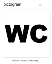 Pictogram sticker WC (10x10cm)