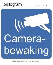 Pictogram sticker Camera bewaking (10x10cm)