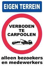 XL Pictogram sticker Verboden te carpoolen (19.5x28.5cm)
