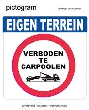 Pictogram sticker Verboden te carpoolen (10x10cm)