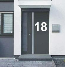 Huisnummer sticker groot mat wit 100x55cm