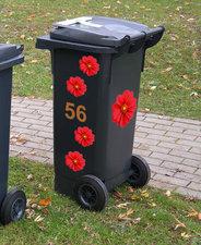 Kliko stickers flowers rood