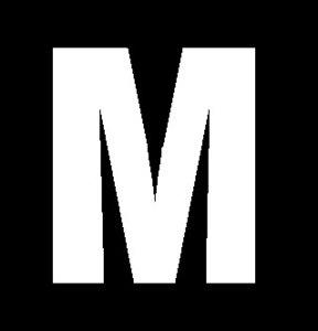 Plakletter wit 6cm: M