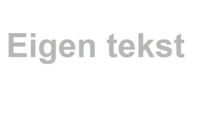 Tekststicker gezandstraald (max. 25 tekens)